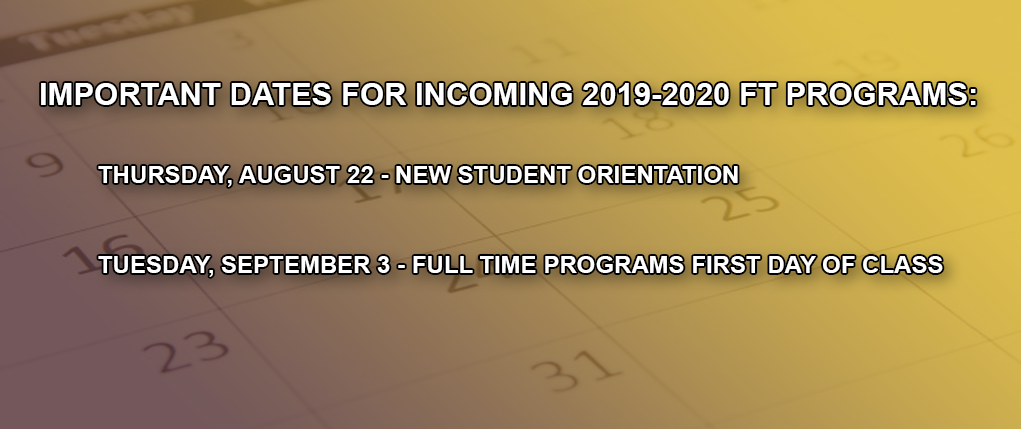 Upcoming FT program dates