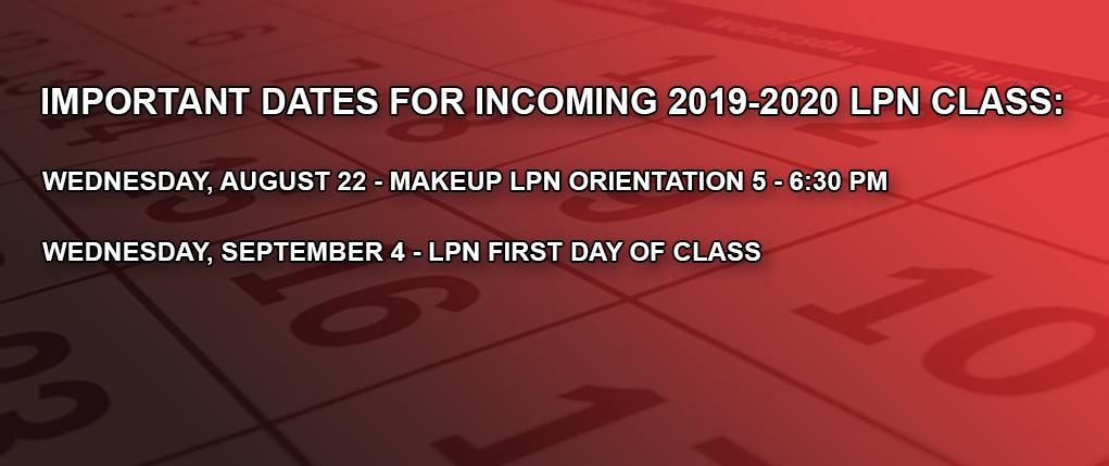 LPN dates